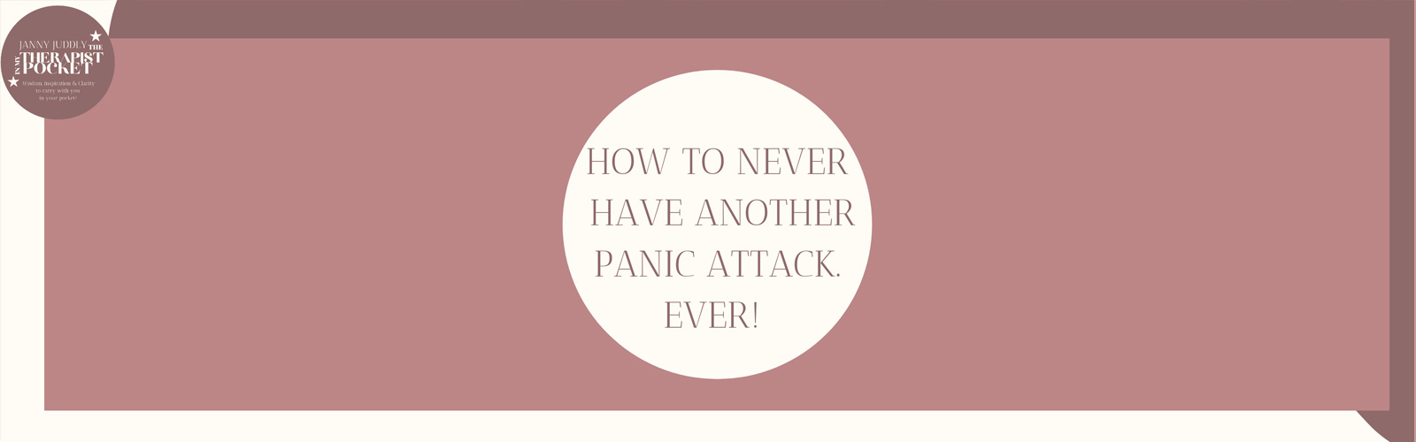HOW TO NEVER HAVE ANOTHER PANIC ATTACK Catherine's in trouble. It's 3am and it's about to happen again.